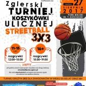 Plakat promujący turniej koszykówki