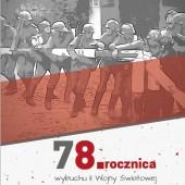 Plakat informujący o obchodach rocznicy wybuchu II Wojny Światowej w Zgierzu