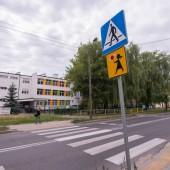 Przejście dla pieszych przy Szkole Podstawowej nr 6 na ul. 3 Maja