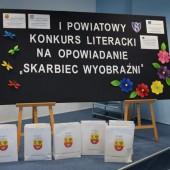Tablica z informacją o konkursie - fot. Starostwo Powiatowe w Zgierzu
