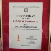 Certifikat - fot. Starostwo Powiatowe w Zgierzu
