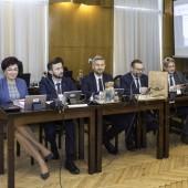 Kierownictwo urzędu podczas sesji Rady Miasta Zgierza