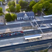 """Widok z lotu ptaka dworca kolejowego - fot. Facebook """"Świat z góry"""""""