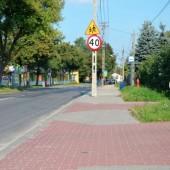 Chodnik przy ul. Piłsudskiego w Zgierzu - fot. Starostwo Powiatowe w Zgierzu