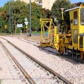 nowe tory tramwajowe na Kuraku