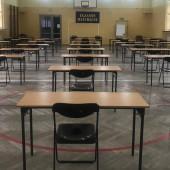 Sala gimnastyczna w LO im. S. Staszica przygotowana do egzaminu maturalnego - fot. I lO im. S. Staszica w Zgierzu