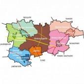 Mapka powiatu zgierskiego - fot. Gmina Zgierz, mapy