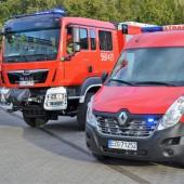 Nowe wozy strażackie - fot. Starostwo Powiatowe w Zgierzu