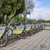 Stacja rowerów w Parku Miejskim im. T. Kościuszki