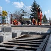 Roboty na ul. Czereśniowej - kwiecień 2019 r.