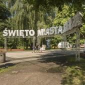 Wejście do parku Miejskiego im. T. Kościuszki w Zgierzu