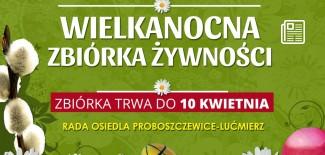 Plakat promujący zbiórkę żywności