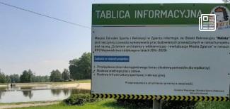 Tablica informacyjna na Malince