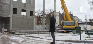 Prezydent miasta obserwuje prace budowlane Starego Młyna - styczeń 2020 r.