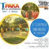 """Plakat promujący finał akcji """"Paka dla Uczniaka"""" 2017"""