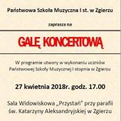 Plakat promujący koncert