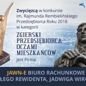 """Wyniki konkursu """"Zgierski przedsiębiorca oczami mieszkańców 2018"""""""