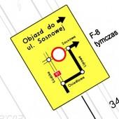 znak objazdu