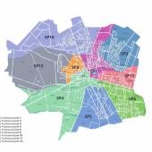 Mapa nowej rejonizacji w Zgierzu