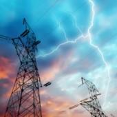 Burza, słupy energetyczne