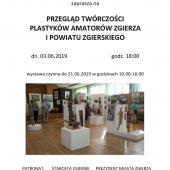Plakat promujący wernisaż wystawy