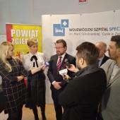 Konferencja prasowa w Szpitalu Wojewódzkim w Zgierzu - fot. WSS