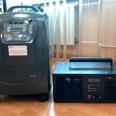 Na zdjęciu koncentrator tlenu oraz ozonator, zakupione do jednego z domów