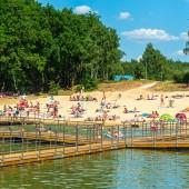 Tłumy plażowiczów na Malince - 19.06.2021 r.