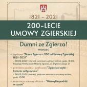 Program obchodów 200-lecia Umowy Zgierskiej w marcu 2021 r.