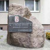 Tablica przed siedzibą ZNP