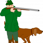 Myśliwy z psem - grafika pixabay.com (domena publiczna)