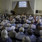 Uroczystość w sali dawnego Kolegium Nauczycielskiego
