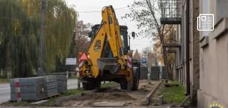 Prace remontowe chodnika na ul. 3 Maja