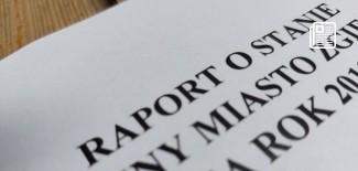 strona tytułowa raportu o stanie gminy