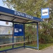 Przystanek autobusowy przy ul. Staffa - fot. CKD