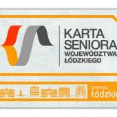 Przód Karty Seniora Województwa Łódzkiego